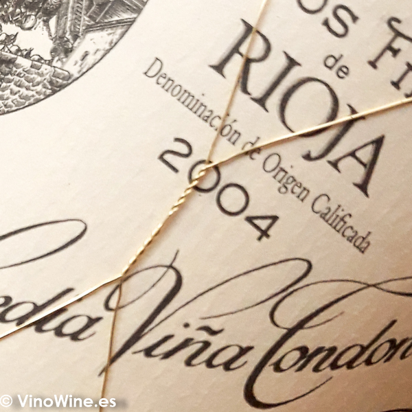 Etiqueta de Viña Tondonia Blanco Reserva 2004