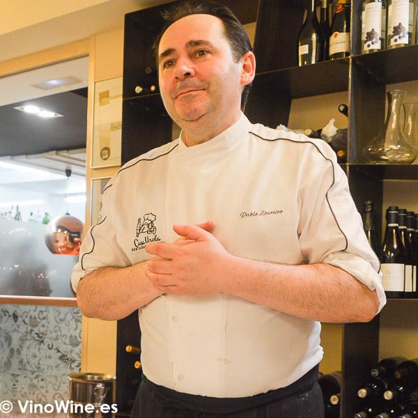 Pablo Loureiro, propietario y cocinero de Casa Urola en San Sebastián