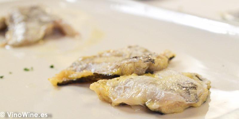Cocochas de merluza rebozadas de Casa Urola en San Sebastian