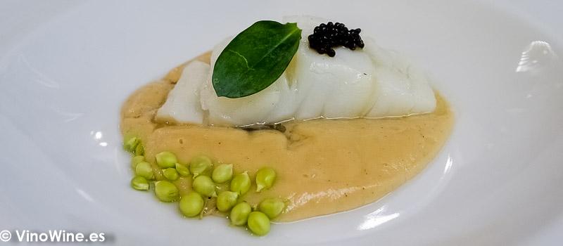 Crema de puerros bacalao caviar Per Se Baerri del Restaurante Galerna de San Sebastian