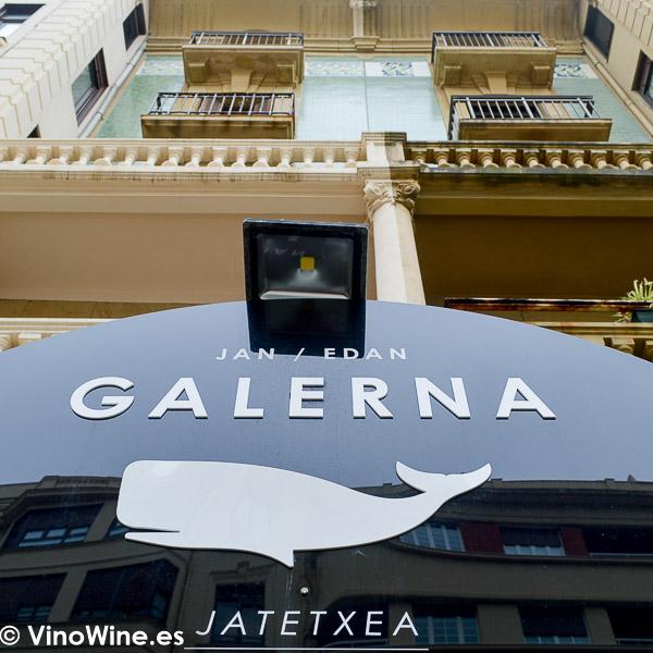 Entrada al Restaurante Galerna de San Sebastian