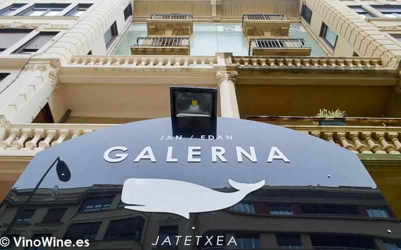 Logotipo a la entrada del Restaurante Galerna en San Sebastian