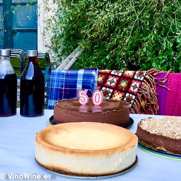 Tarta de queso al horno como tarta de cumpleaños