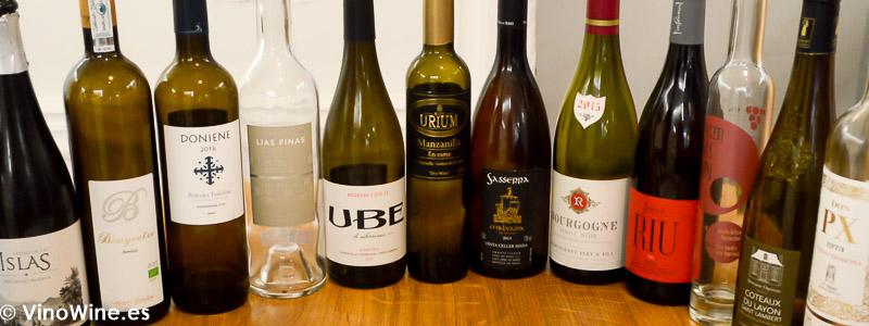 Vinos degustados en el Restaurante Galerna en el Restaurante Galerna de San Sebastian
