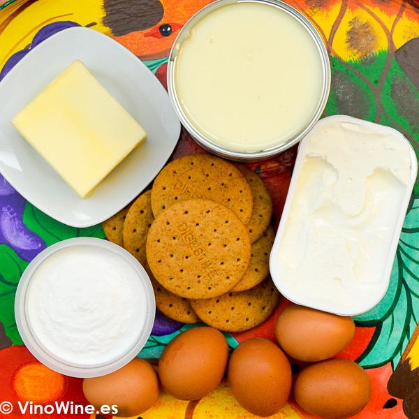 ingredientes necesarios para la receta de la tarta de queso al horno