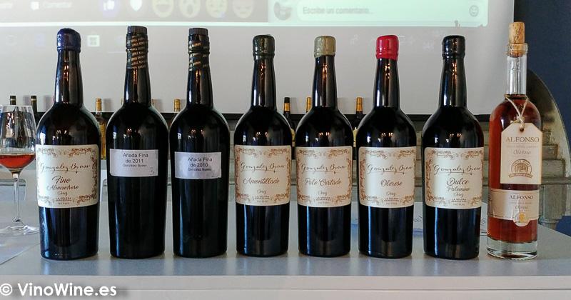 Botellas de la cata de Reliquias Líquidas de González Byass celebrada en Vinoble