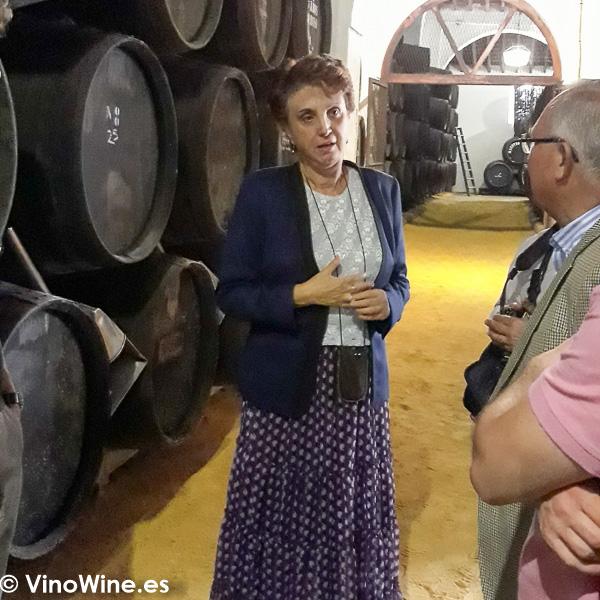 Carmen Borrego Pla de Bodegas El Maestro Sierra de Jerez visitada en Vinoble