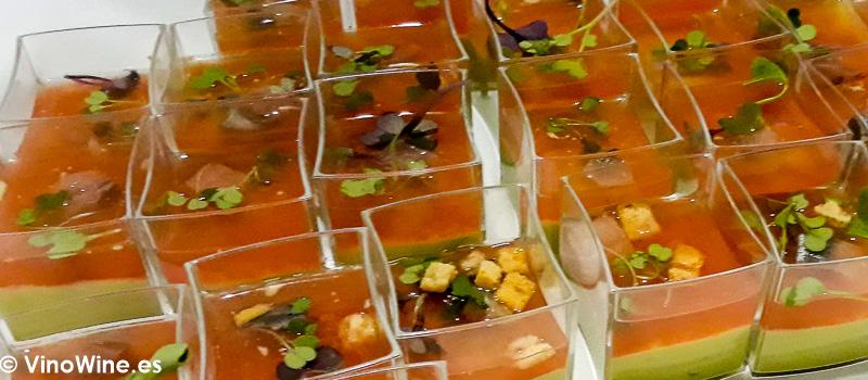 Propuesta del Restaurante El Corral de la Moreria en la Fiesta de Bodegas Tradicion celebrada el lunes noche de Vinoble