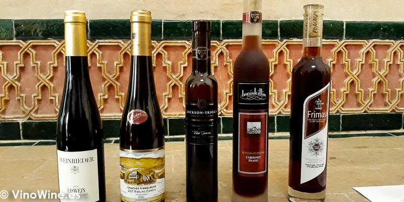 Vinos de la cata El Milagro de los vinos de Hielo celebrada la manana del martes de Vinoble