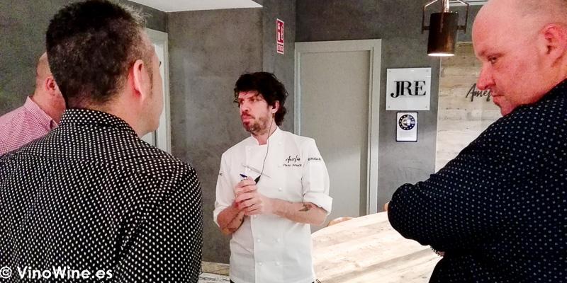 Los Restauranteros charlando con Paulo Airaudo del Restaurante Amelia de San Sebastian