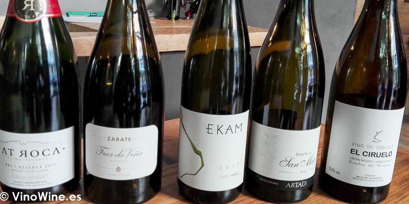 Vinos degustados en el Restaurante Amelia de San Sebastian