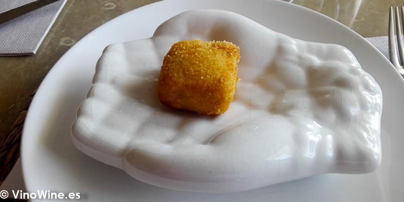 Croqueta de sobrasada de Xabia de Tula Restaurante de Javea en Alicante