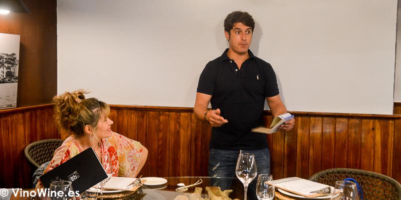 Joan Abril en el Restaurante Ca Joan de Altea en Alicante