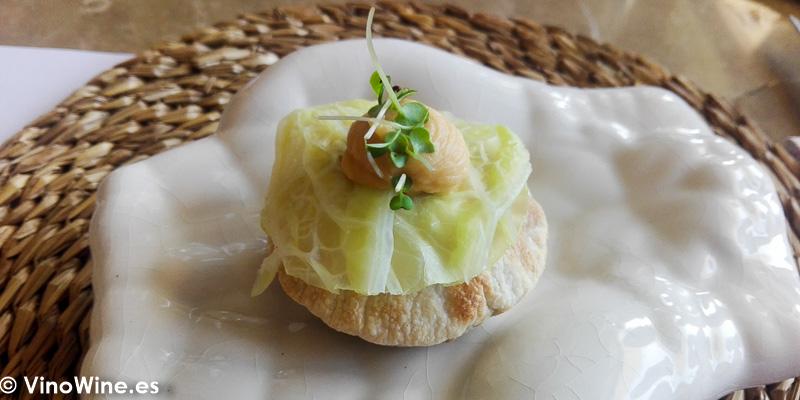 Mollete crujiente de pelota de puchero de Tula Restaurante de Javea en Alicante