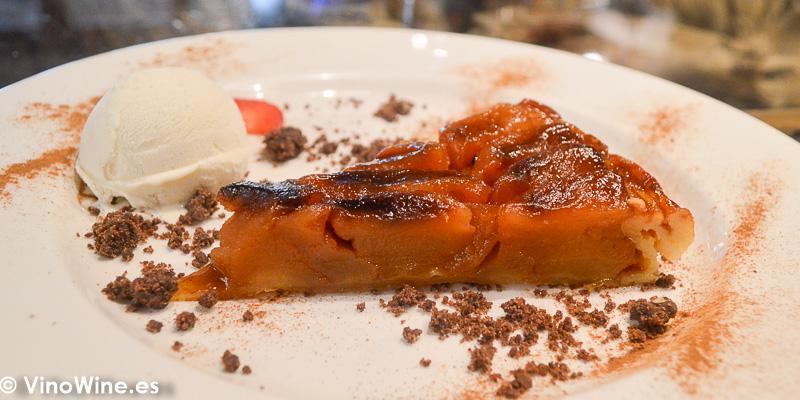 Tarta Tatin de Manzana del Restaurante Ca Joan de Altea en Alicante