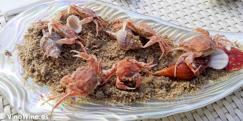 Cangrejos de rio para untar en la salmorreta del Restaurante Quique Dacosta en Denia