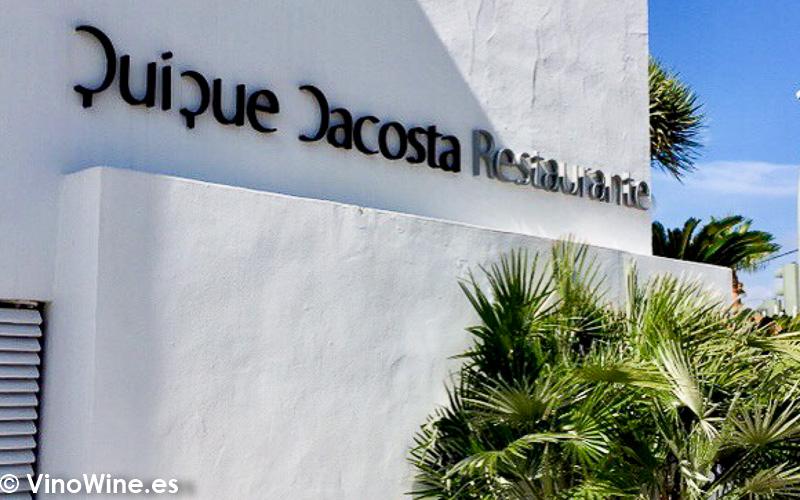 Detalle de la fachada del Restaurante Quique Dacosta en Denia