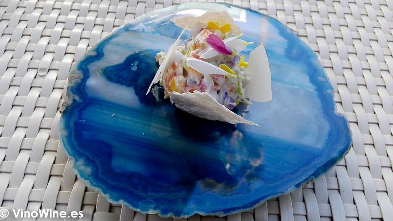 Ensaladilla de Flores del Restaurante Quique Dacosta en Denia