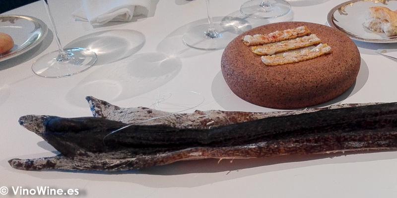Morena secada al sol presentada en el Restaurante Quique Dacosta en Denia