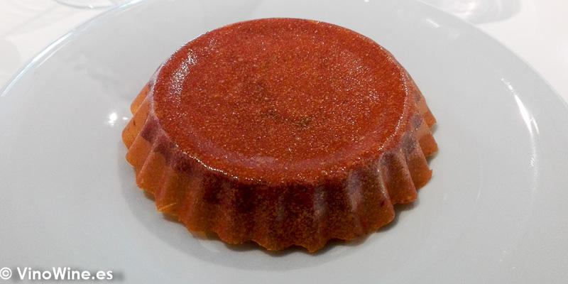 Pastisset de calabaza y chocolate del Restaurante Quique Dacosta en Denia