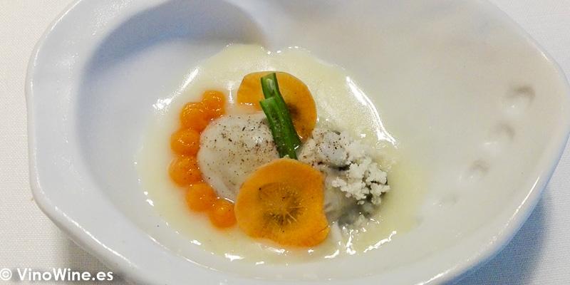 Bollit de ostra valenciana zanahorias judias Bobb cous cous de coliflor del Restaurante Audrey s en Calpe Alicante