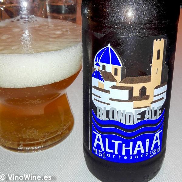 Cerveza Althaia degustada en el Restaurante Audrey s en Calpe Alicante