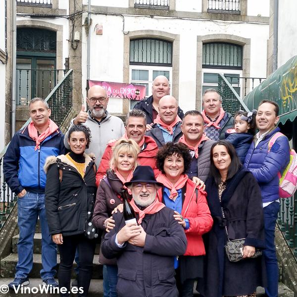 Foto de grupo de los Restauranteros en Santiago de Compostela