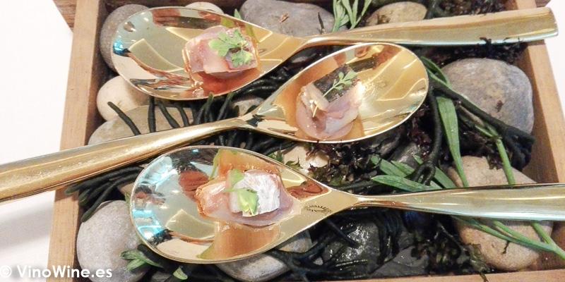 Esclafoll de cebollitas asadas degustado en el Restaurante Audrey s en Calpe Alicante