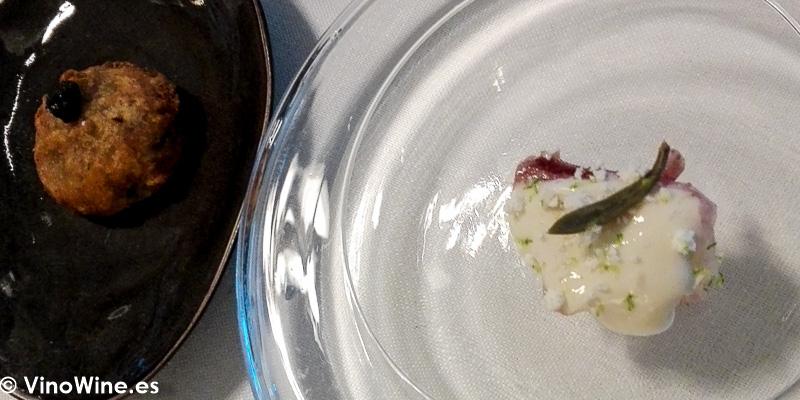 Sepia Bruta y Peix de Calp a la salmenuiere degustado en el Restaurante Audrey s en Calpe Alicante