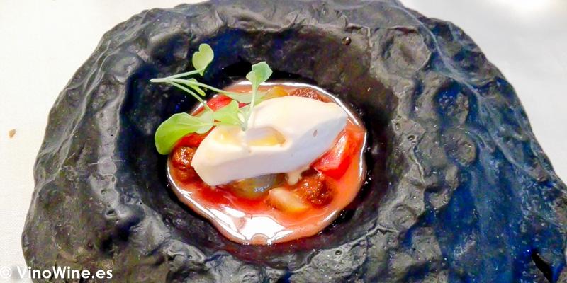 Tomates de Benissa frescos encurtidos secos y helados del Restaurante Audrey s en Calpe Alicante