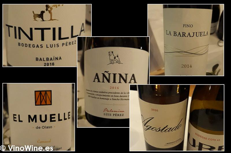 Algunos de los vinos de Cota 45 y La Barajuela presentes en La Odisea Muestra de vinos Homericos