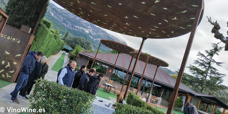 Exteriores del Restaurante Escaleta donde se celebro La Odisea Muestra de vinos Homericos