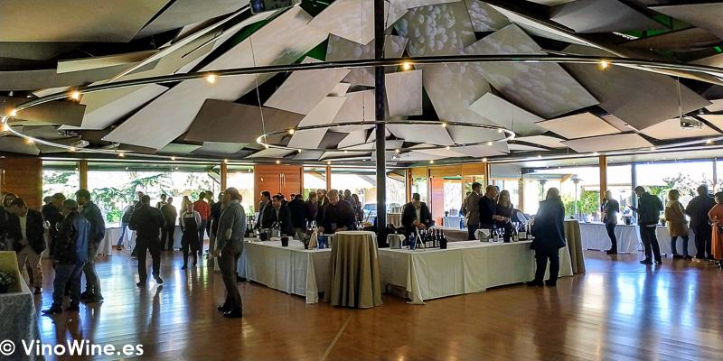Salon del Restaurante La Escaleta donde se celebro La Odisea Muestra de vinos Homericos