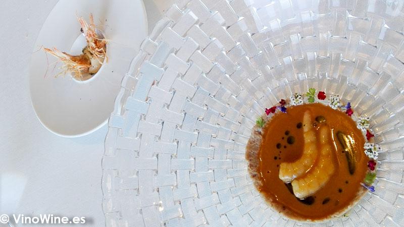 All i pebre de gamba blanca y blanquet del restaurante Peix i Brases en Denia