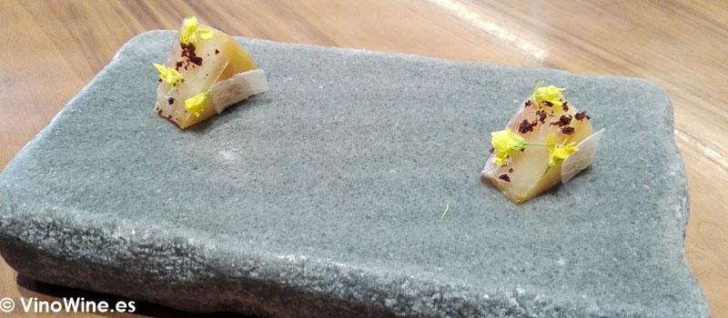 Colinabo confitado papada iberica y sumak del Restaurante Ricard Camarena en Valencia