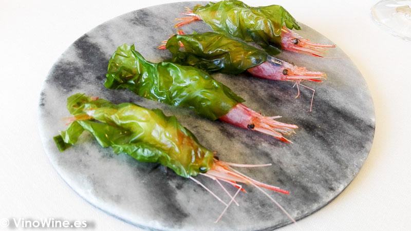 Gambita con algas del restaurante Peix i Brases en Denia