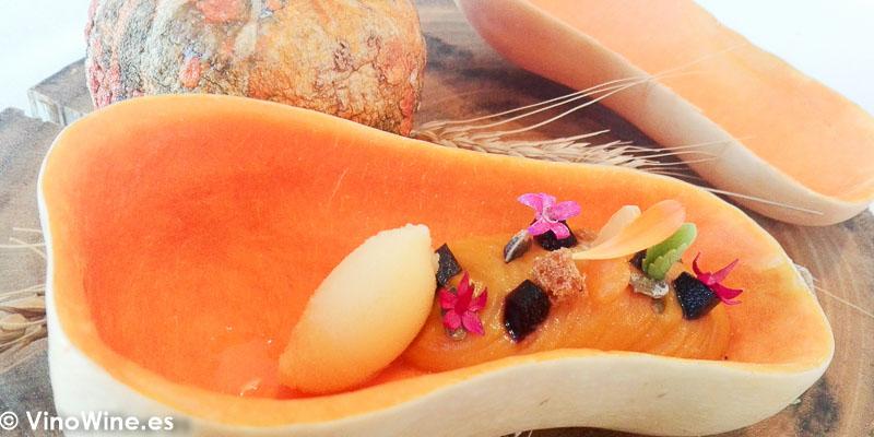 La calabaza integra del restaurante Peix i Brases de Denia