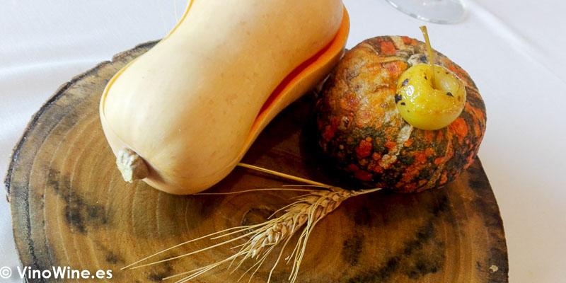 La calabaza integra del restaurante Peix i Brases en Denia