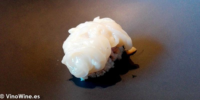 Calamar citrico del Restaurante La Salita en Valencia