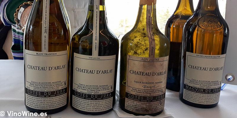 Chateau D Arlay de Jura Francia catados en El Alma de los Vinos Unicos 2019 en Burgos