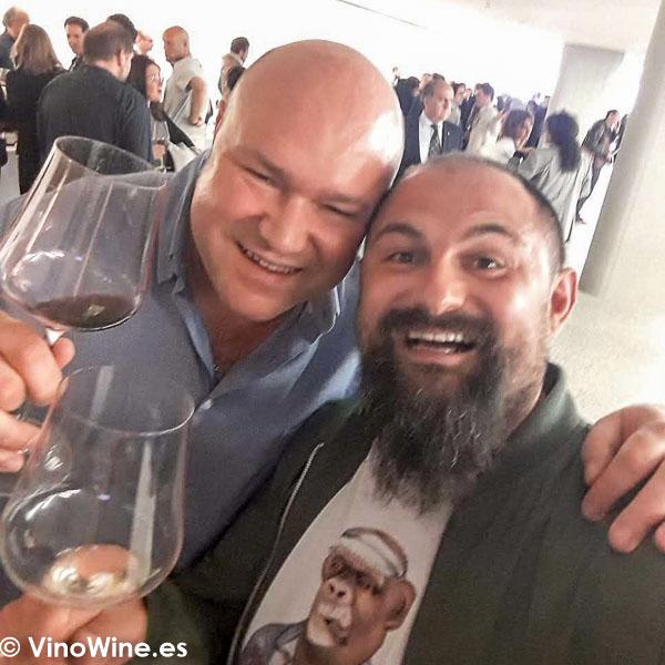Disfrutando con Sergio Quintial Kintiman en El Alma de los Vinos Unicos 2019 en Burgos