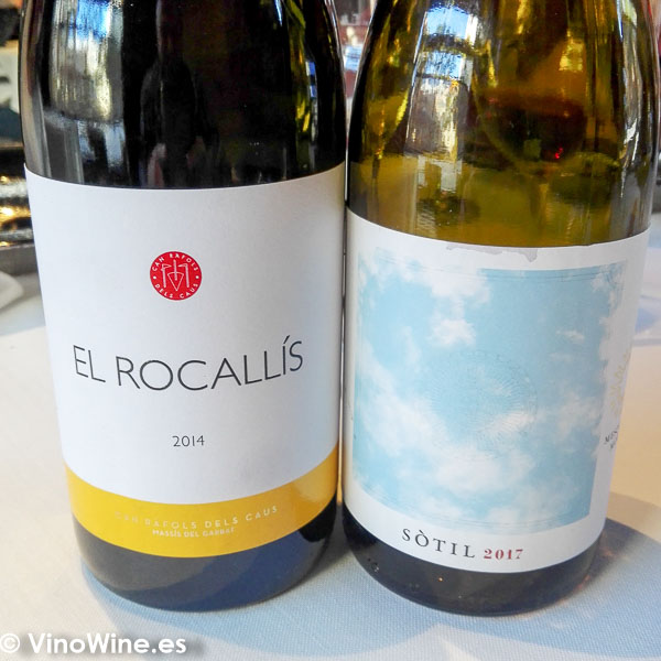 Dos de los vinos degustados en el Restaurante La Salita en Valencia