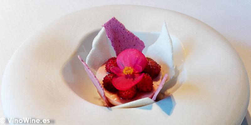 Fresas con nata del Restaurante La Salita en Valencia