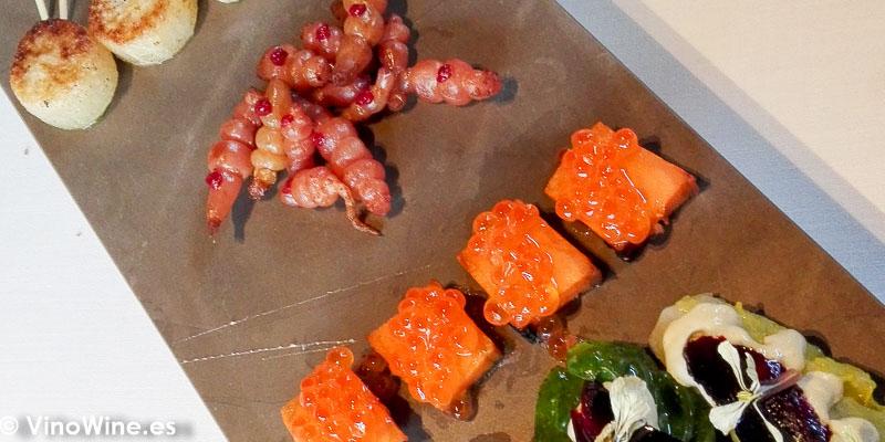 Salsifi rabano daikon krosnes boniato y endivia del Restaurante La Salita en Valencia