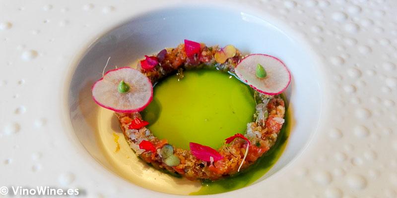 Tiara de encurtidos y salazones del Restaurante La Salita en Valencia