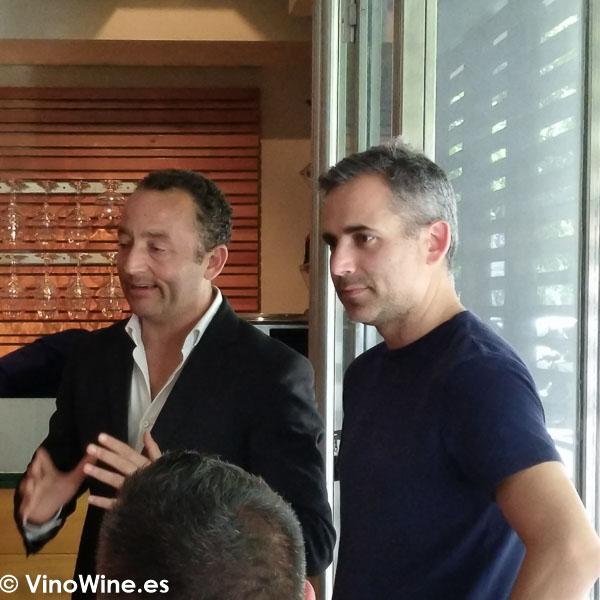 Eduardo Gimenez junto a Rafa Garrido en el Restaurante Tribeca en Sevilla