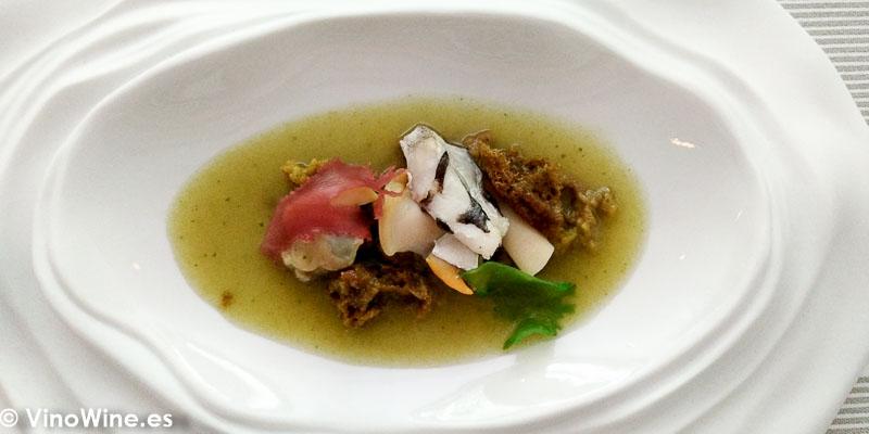 Fondo marino del Restaurante Tribeca de Sevilla