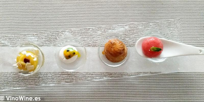 Petit fours y bombones de nuestro obrador en el Restaurante Tribeca en Sevilla
