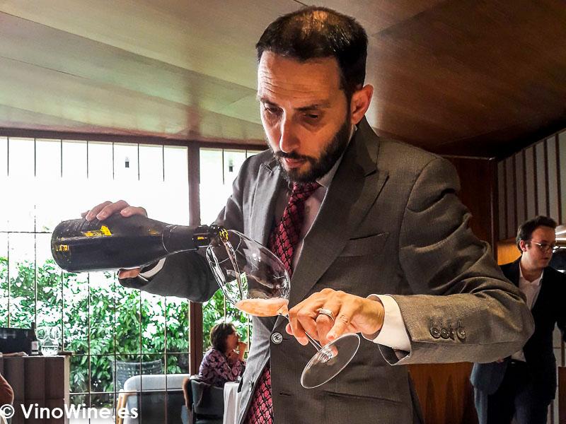 David Rabasa sumiller del restaurante Ricard Camarena de Valencia. El Maridaje en los Restaurantes