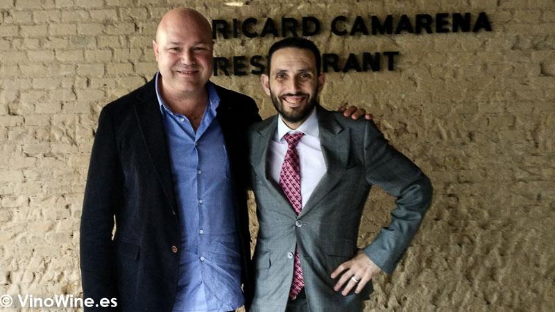 Jose Ruiz y David Rabasa sumiller del Restaurante Ricard Camarena en Valencia. El Maridaje en los Restaurantes